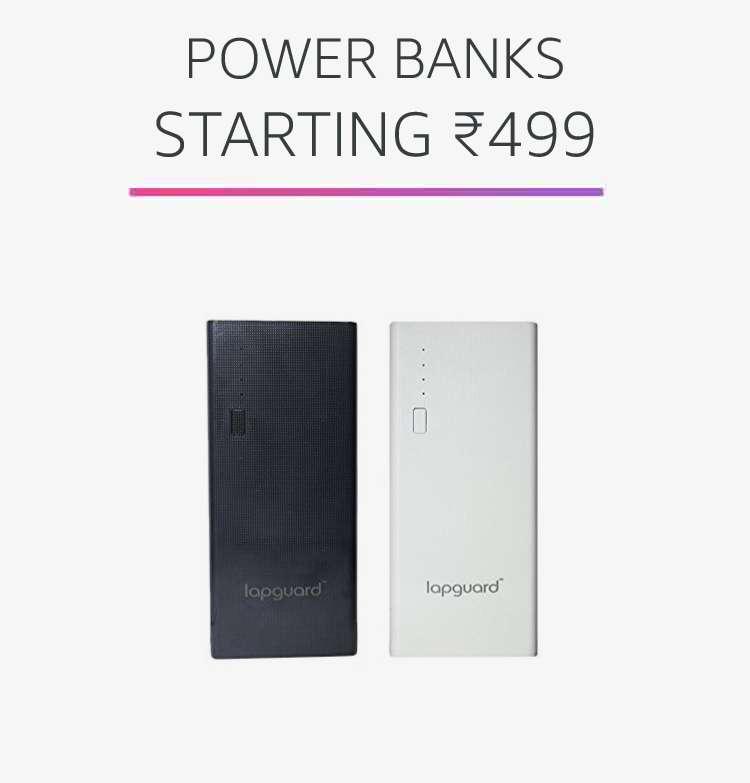 Power banks starting Rs.499