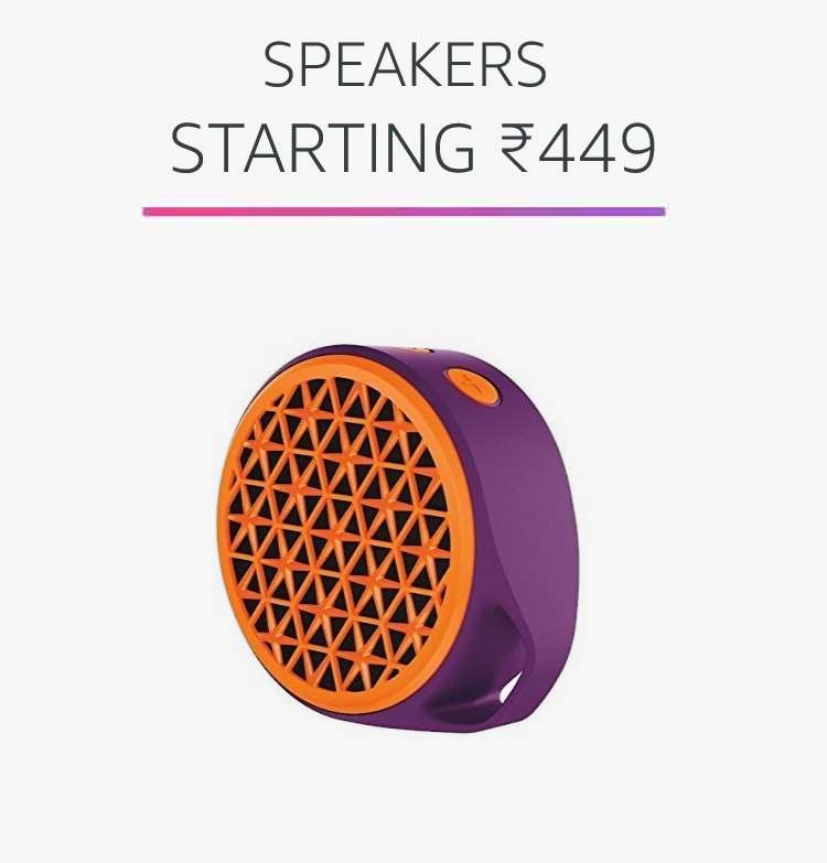 Speakers starting Rs.449