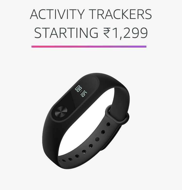 Activity Trackers starting Rs.1,299