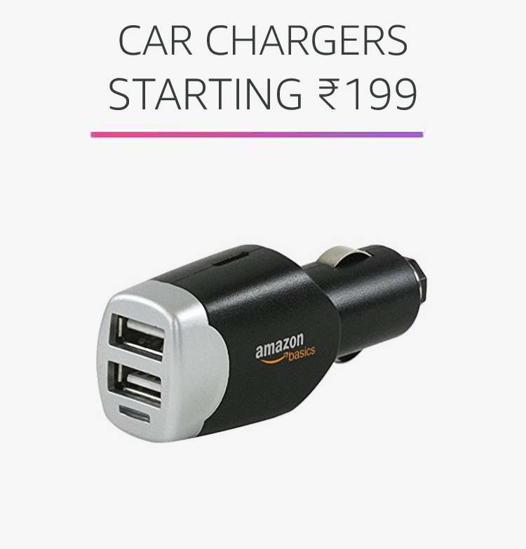 Car chargers starting Rs.199
