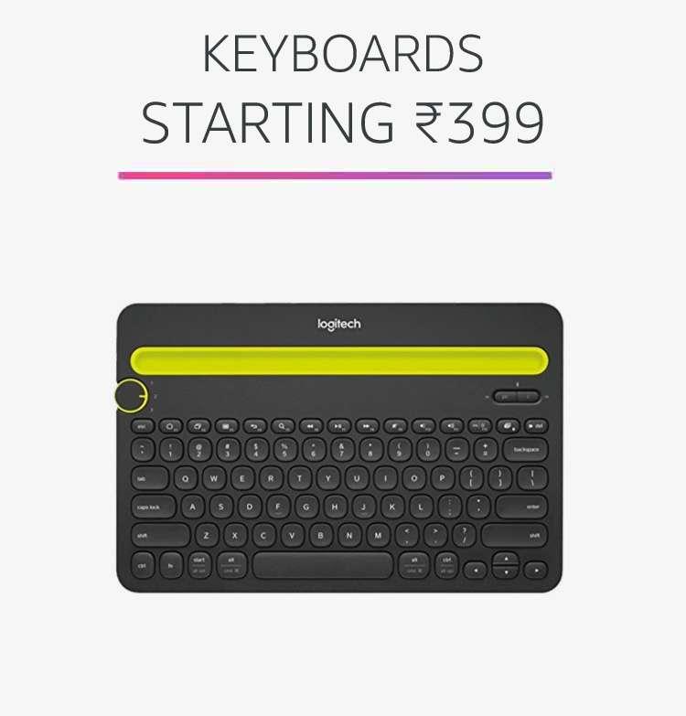Keyboards starting Rs.399