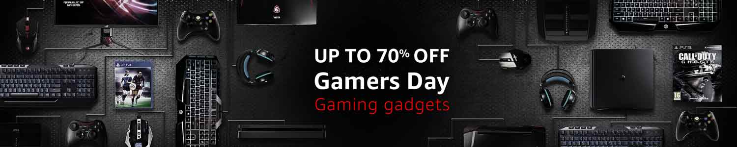 #Gamers Day - 70% off on Gaming Gadgets