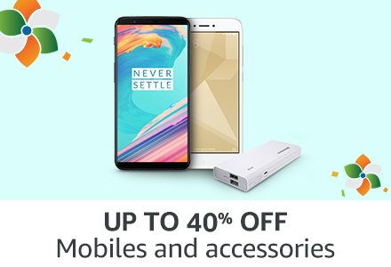 UP TO 40% OFF Mobile & Accessories