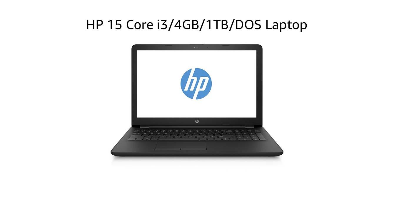 HP 15 Core i3/4GB/1TB/DOS Laptop