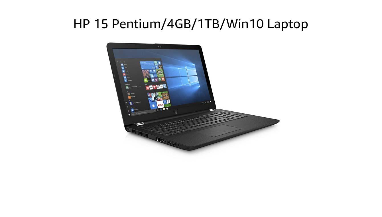 HP 15 Pentium/4GB/1TB/Win10 Laptop