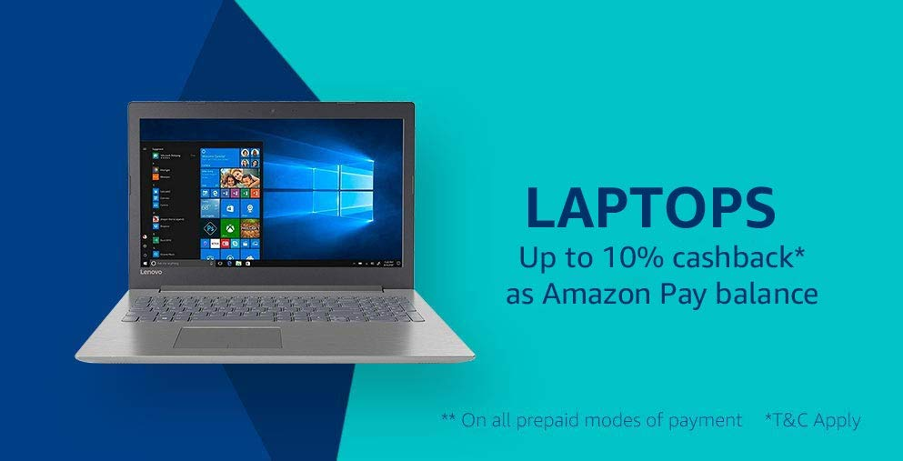 laptops- Cashback and more offers