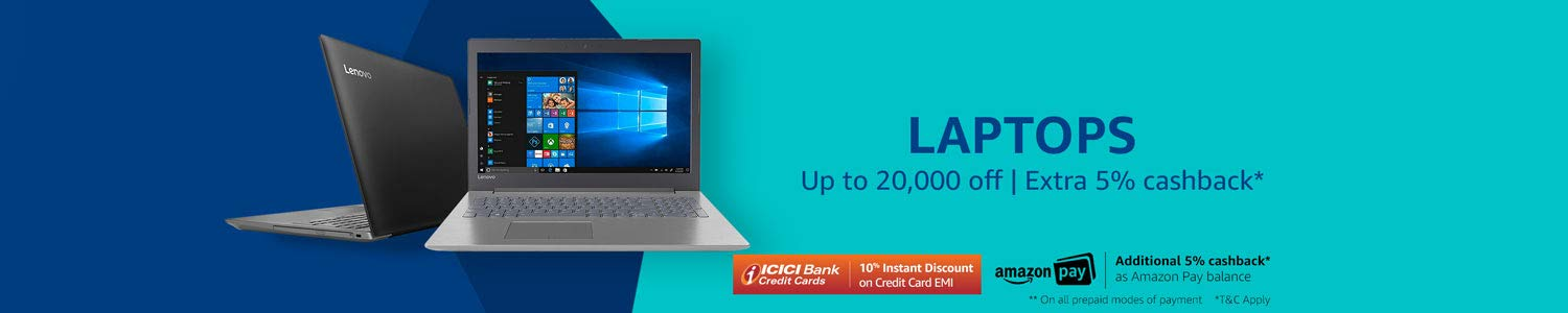 extra up to ₹5000 cashback- Laptops
