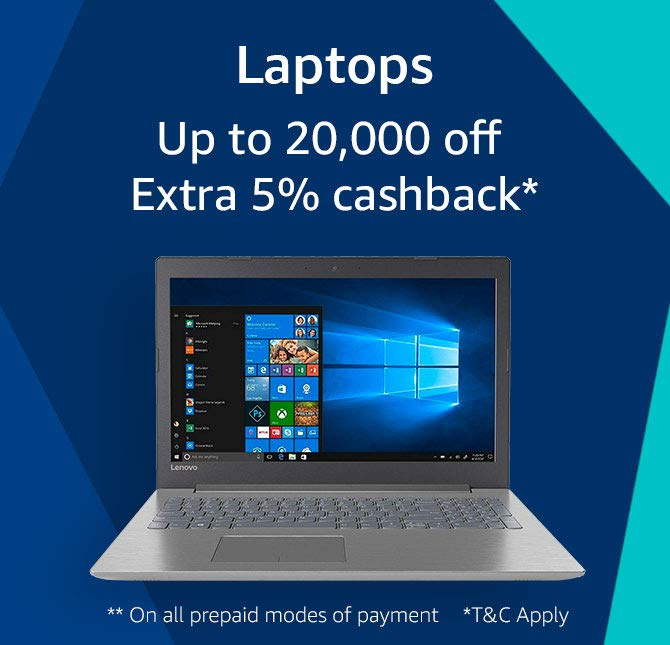 laptops extra up to 5000 cashback