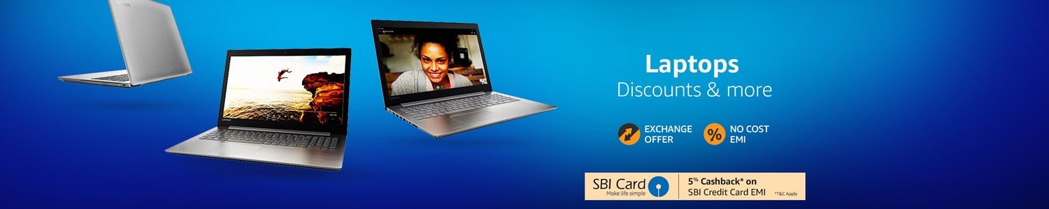 Laptops- Discounts, offers and more