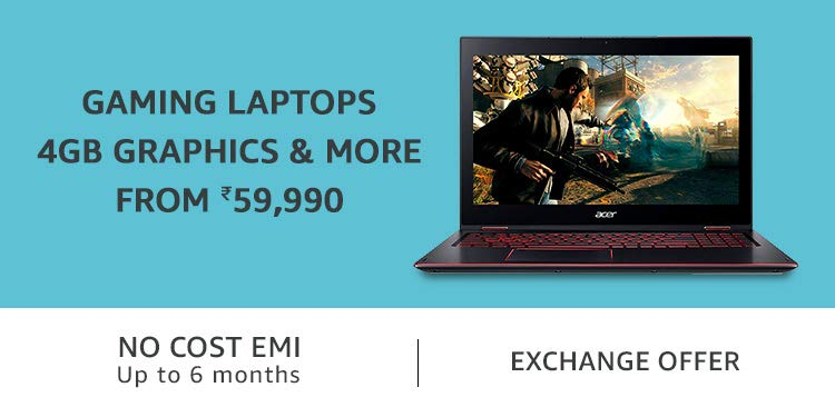 Gaming Laptops from Rs 59,990 | 4GB Graphics and More