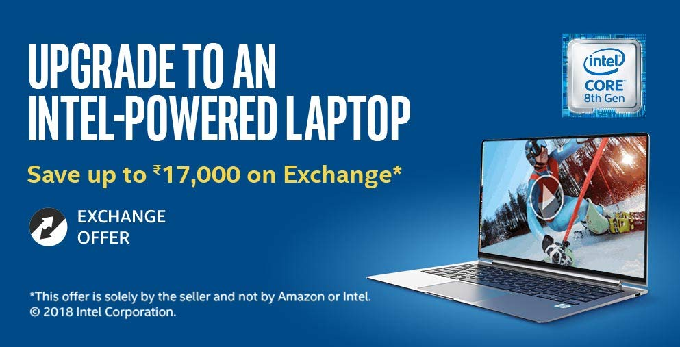 Intel Powered laptop | Save Up to ₹17,000 on Exchange