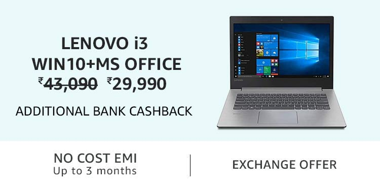 Lenovo i3 Win10+MS Office
