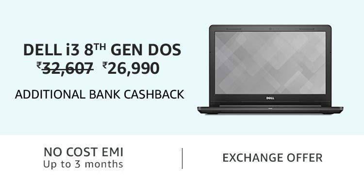 Dell i3 8th gen DOS