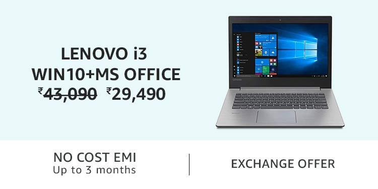 Lenovo i3 Win10+MS Office