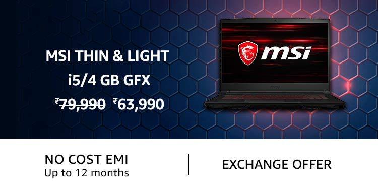 MSI Thin and Light i5 / 4 GB Gfx