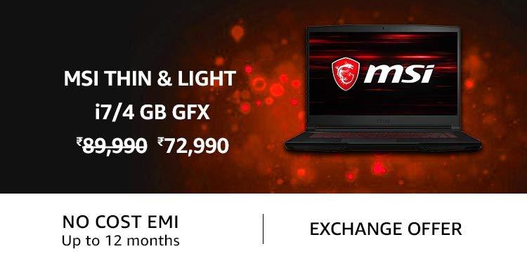 MSI Thin and Light i7/4 GB Gfx