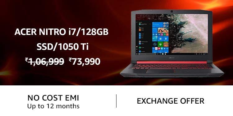 Acer Nitro i7/128GB SSD/1050 Ti