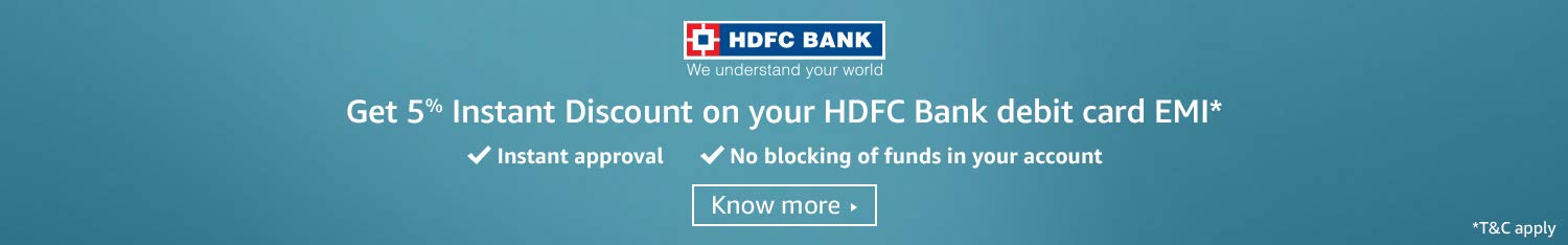 HDFC Bank 5% instant discount on debit card EMI