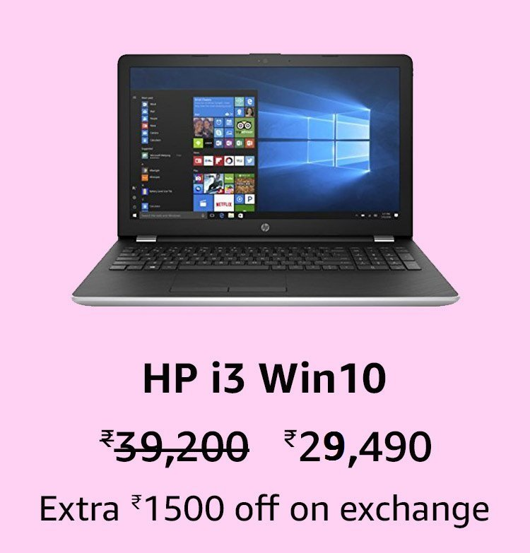HP i3/4GB/1TB Win10/FHD