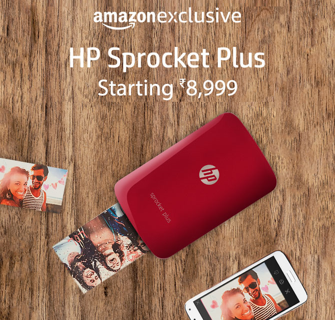 HP Sprocket Plus starting Rs.8999