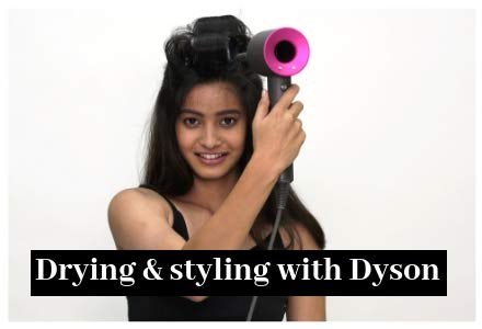 Drying & styling with Dyson
