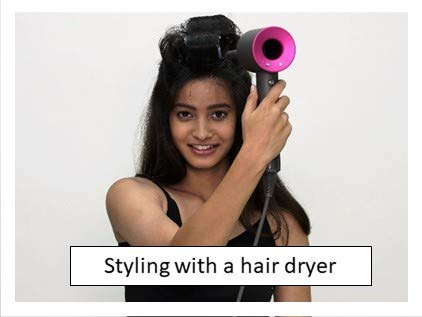Styling with a hair dryer