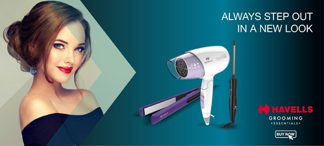 Havells Hair Dryer, Straightener and Curler
