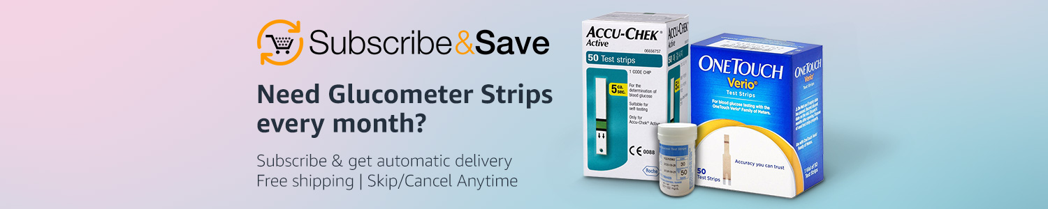Subscribe and Save Glucometer strips