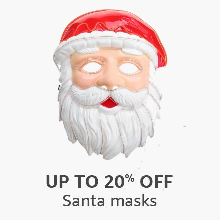 Up to 20% off: Santa masks