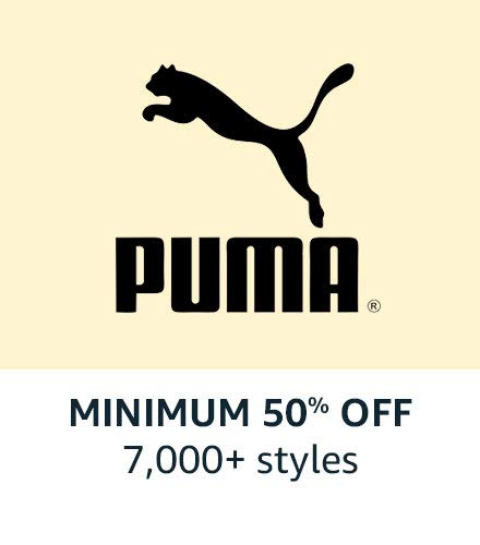 Puma : Min 50% off Amazon great india sale offer