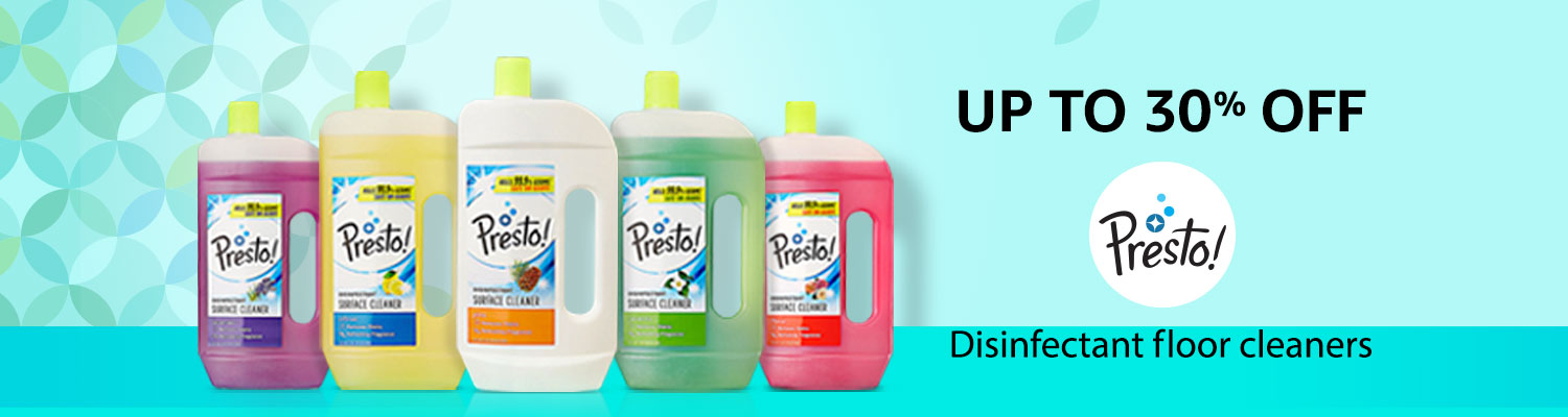 Flat 30% off: Presto! floor cleaners
