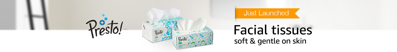 Just launched: Presto! facial tissues