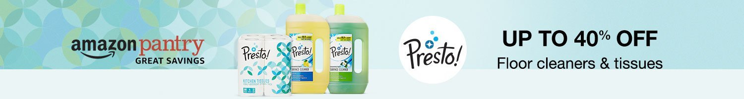 Up to 40% off: Tissues & floor cleaners from Presto!