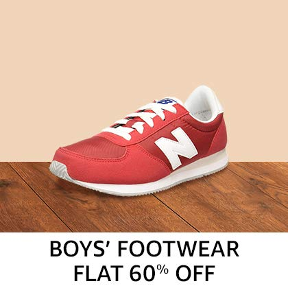Boys' Footwear - Flat 60%Off