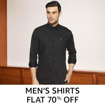 Men's Shirts Flat 70% Off