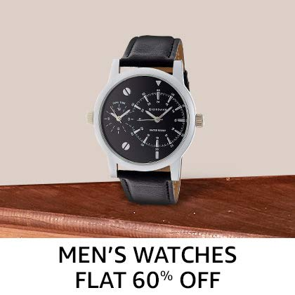 Men's Watches Flat 60% Off