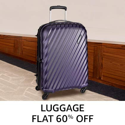 Luggage Flat 60% Off