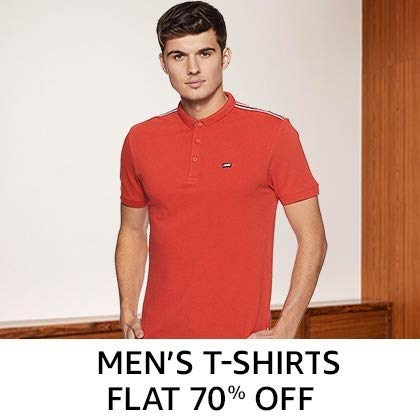 Men's Tshirt Flat 70% Off
