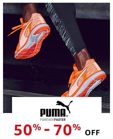 Puma : 50% -70% off