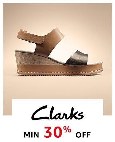Clarks : Min. 30% off