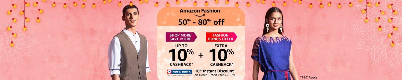 50%-80% off + extra 10% cashback