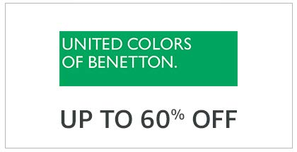 United Colors Of Benetton up To 60% Off