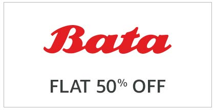 Bata Flat 50% off