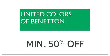 United Colors Of Benetton Min. 50% Off