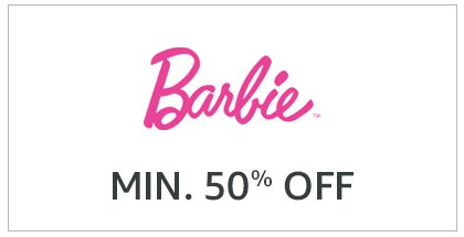Barbie Min. 50% Off