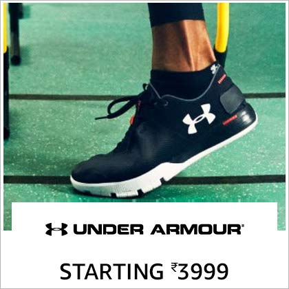 Under Armour Starting Rs. 3999