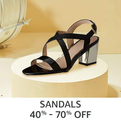 Sandals 40% - 70% Off