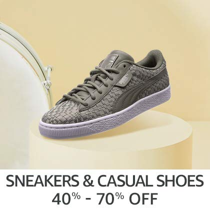 Sneakers & Casual Shoes 40% - 70% Off