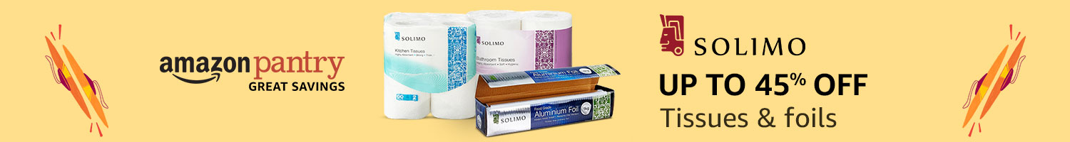 Up to 45% off: Solimo tissues & foils