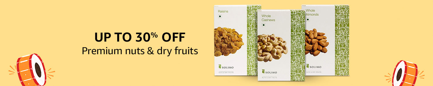 Up to 30% off: Dry fruits & nuts